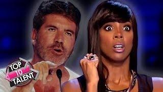 TOP 10 ANGRIEST Auditions EVER On Idols And X Factor!