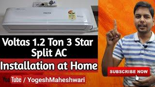How to Install Split Air Conditioner in Hindi Split AC Installation at Home Video