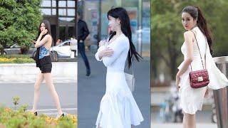 Long Legs Girl Compilation Top 10  Street Fashion China(2020.06)#02