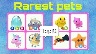 Top 10 Rarest Pets in Adopt me!