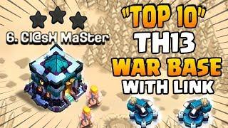 NEW TOP 10 TH13 WAR BASES + LINKS 2020 | Best Town Hall 13 War Base layout | Clash of Clans