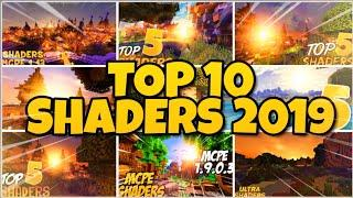 TOP 10 BEST SHADERS OF 2019 FOR MINECRAFT PE - SHADERS MCPE RETROSPECTIVE 2019