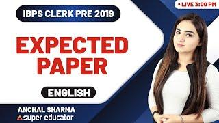 IBPS Clerk 2019 | English by Anchal Maam | IBPS Clerk Expected Questions Paper