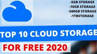 Top 10 Best FREE CLOUD STORAGE Services (2020)