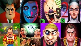 TOP GAMES Scary Teacher 3D Ice Scream 3 Evil Nun 2 Dark Riddle Smiling 0 Scary Robber Scary Stranger