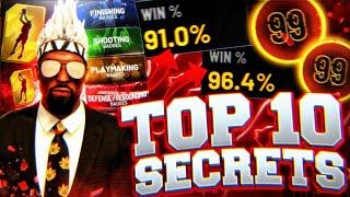 TOP 10 SECRETS IN NBA 2K21! WATCH THIS VIDEO BEFORE BUYING 2K21... BEST TIPS + BUILDS + JUMPSHOTS!!