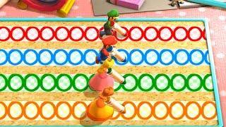 Mario Party Party The Top 100 MiniGames - Mario Vs Luigi Vs Daisy Vs Peach (Very Hard Cpu)