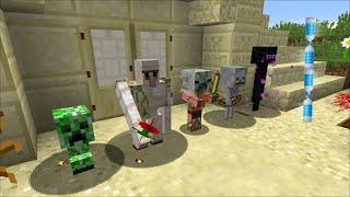 Minecraft MONSTER SCHOOL: HELPING FIND A CURE FOR BABY MOBS !! FIND THE POTION !! Minecraft Mods