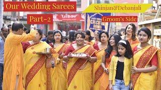 Our Wedding Sarees Showcase Part-2 || 1st Anniversary || Groom's Side ||