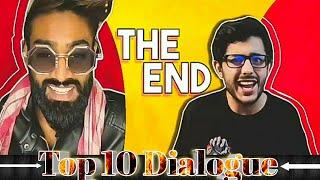 Top 10 Dialogue in Tiktok vs YouTube — The End by CarryMinati || CarryMinati dialogue's 2020 .
