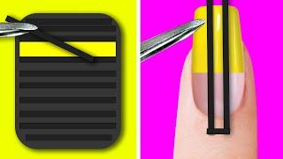 26 NAIL AND MANICURE HACKS || AWESOME NAIL DESIGNS
