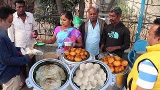 Any Breakfast Just 10 Rs Only @ Hyderabad | Street Food Hyderabad | Amazing Food Zone