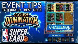 COURT DOMINATION TUTORIAL, TIPS & TRICKS + BEST DECK - NBA SuperCard #50 SuperCard Tips & Tricks