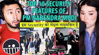 Top 10 Security Features of PM Narendra Modi | Top 10 Hindi | Reaction by Jaby Koay & Achara!