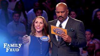 WOW! Sarah gets ZERO... then ZERO... then BOOM! | Family Feud