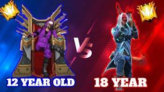 Free fire ✌coustom, 12 Year old-Starkid vs 18 year boy. 1 vs1 game play