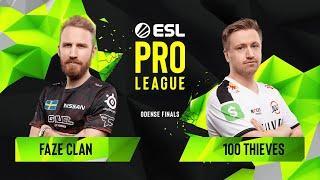 CS:GO - 100 Thieves vs. FaZe Clan [Dust2] Map 2 - Group A - ESL Pro League Season 10 Finals