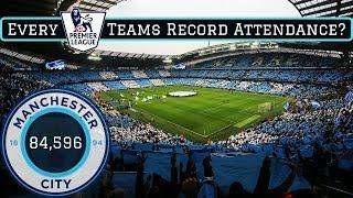 Ranking EVERY Premier League Teams Record Attendance
