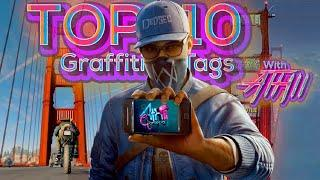 Top 10 high point Graffiti tags   Watch Dogs 2   Athii Gameplay