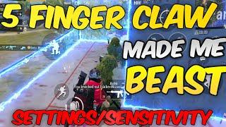 5 Finger Claw Made Me Beast - Pubg Mobile Montage Settings/Sensitivity
