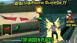 Freefire Top hidden place in தமிழ் || Don't Know this trick and Places || TBG YT