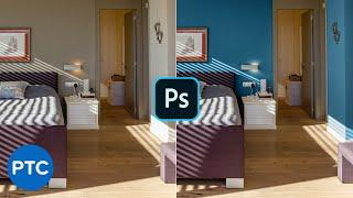 How To Change Wall Color In Photoshop! [Pro Technique]