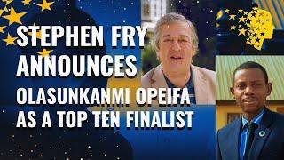 Stephen Fry Announces Olasunkanmi Opeifa As A Top 10 Finalist | Global Teacher Prize 2020
