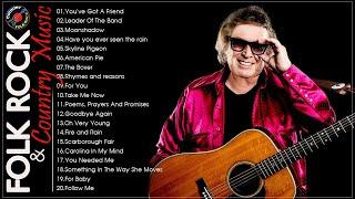 THE BEST OF 70s FOLK ROCK AND COUNTRY MUSIC - Kenny Rogers, Elton John, Bee Gees, John Denver,