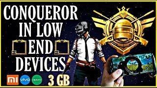 HOW TO PUSH CONQUEROR IN LOW END DEVICE | LAG PROBLEM PUBG MOBILE | PUSH CONQUEROR IN SEASON 13
