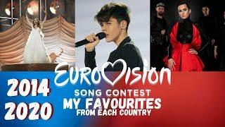 Eurovision – My Favourite Entry From Each Country – 2014-2020