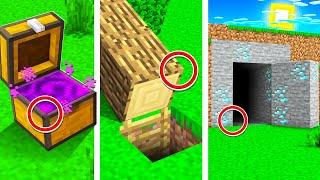7 SECRET Minecraft Houses Your Friends Will NEVER Find!