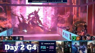 PSG vs JDG | Day 2 Group B S10 LoL Worlds 2020 | JD Gaming vs PSG Talon - Groups full game