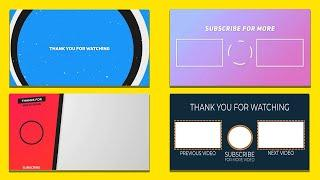 TOP 10 Best YouTube End Screen Template No Copyright For Free Download   YouTube Outros No Copyright