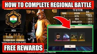 How To Complete Regional Battle Season 2 Event Free Fire || Free Tiger Bundle and Titan Scar Skin