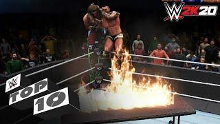 Splintering Finishers Through the Table: WWE 2K20 Top 10