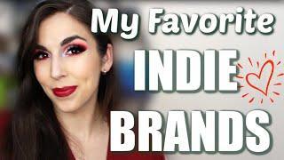 TOP 10 INDIE BRANDS I RECOMMEND | My Favorite Indie Makeup Brands That I Love | Katie Marie