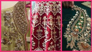 Top10! Very Beautiful Zardosi work Embroidery Designs // New Fancy Embroidery 2020/21