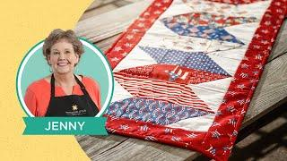 """Make a """"Making Waves"""" Quilt As You Go Table Runner with Jenny Doan of Missouri Star (Video Tutorial)"""