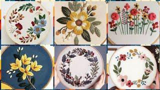 Top Latest Hand Embroidery Flowers Patterns Designs Ideas For Women's And Girls