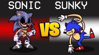 SONIC.EXE VS. SUNKY Mod in Among Us...
