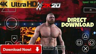 DOWNLOAD WWE2K20 MOD OBB DATA FOR ANDROID PPSSPP [4K ULTRA HD GRAPHICS]LINK IN DESCRIPTION - 2020