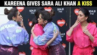 Sara Ali Khan HUGS Her Step Mom Kareena Kapoor Khan   What Women Want   Ishq FM