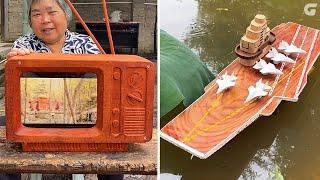 Top 10 Wood Carving Skills: Super Aircraft Carrier - The Chinese Craftsmen Are At Another Level