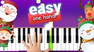 10000% EASY : 11 PIANO CHRISTMAS SONGS WITH 1 HAND!