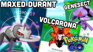 THE POWER OF MAXED DURANT IN POKEMON GO   VOLCARONA & GENESECT WILL RULE