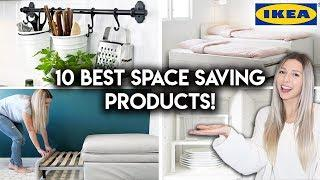 10 BEST IKEA Products for SMALL SPACES   Space Saving Tips & Ideas