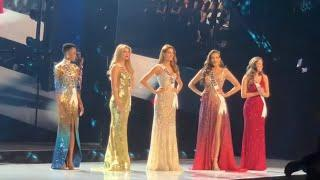 Miss universe TOP 5  Annoucement (AUDIENCE VIEW)