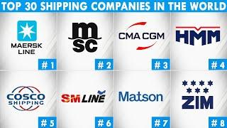 Top 30 Shipping Companies In The World | Largest Container Shipping Companies | Top 10 World Trend