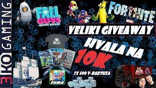 Hvala Na 10K Ljubim vas Sve ! Veliki Giveaway : Fall Guys Igra + 3koGaming Majice itd. - Balkan Live