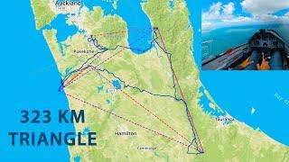To the Limit - 323 km Triangle on an Island by Glider